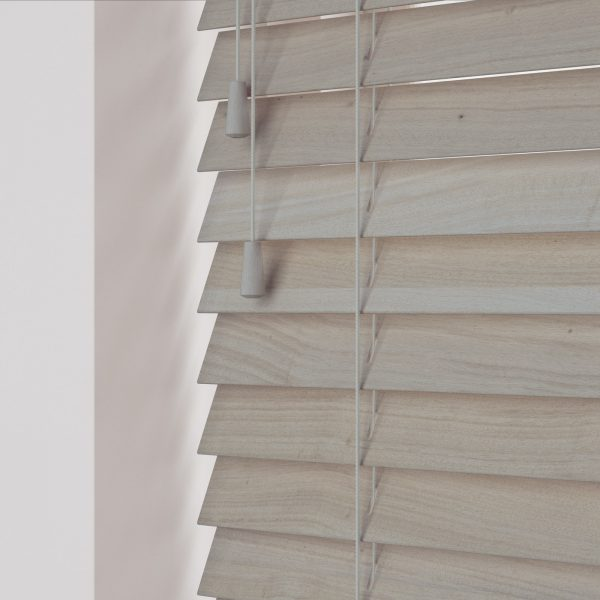 Acacia Wood Venetian Blinds with cords