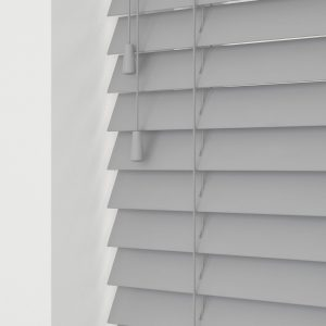 Ash wood venetian blinds with cords