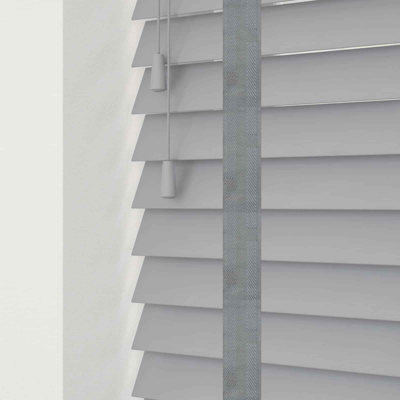 Ash Grey Wood Venetian Blind With Tapes